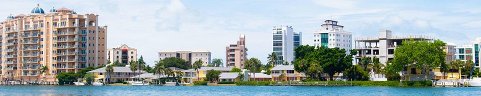 Sarasota skyline from water