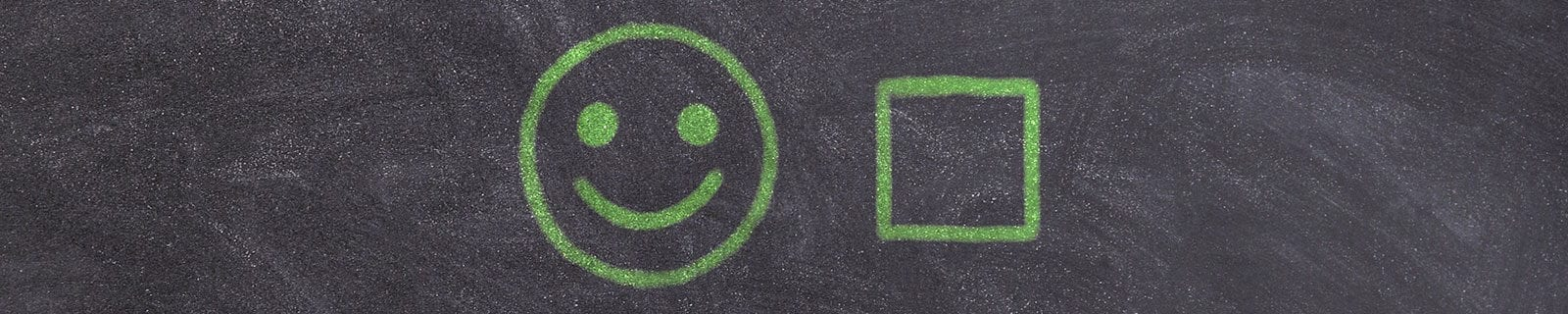 Green smiley face with checkbox